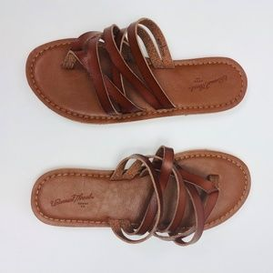54b097535ad9 Universal Thread Shoes - Women s Maritza Multi Strap Toe Slide Thong Sandal